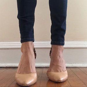 Dolce Vita nude/cheetah heel